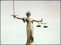 The statue of Lady Justice