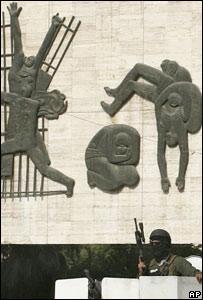 Guardia de seguridad privada en Bagdad