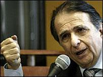 Alberto Santofimio, ex ministro de Justicia de Colombia.