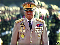 Burma's top general, Than Shwe (file image)