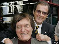 Sir Roger Moore with Richard Kiel