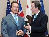 Arnold Schwarzenegger and David Cameron