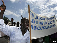Protest in September in Juba about the CPA