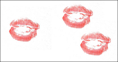 Lipstick imprint