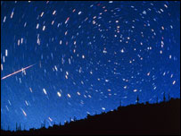 Time lapse photograph of night sky, SPL