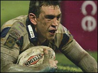 Kevin Sinfield in action for Leeds