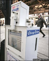 US newspaper vending machine