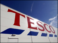 Front of a Tesco supermarket