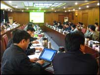 Mid-level officials are being trained for further promotion at the Beijing Party School