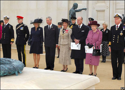 Members of the Royal Family at the National Armed Forces Memorial