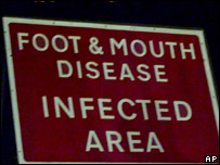 Foot and mouth sign