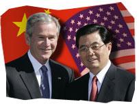 US President George W. Bush and Chinese President Hu Jintao