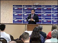 Bill Richardson campaigns in Iowa