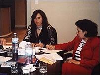 Rania al-Jabiri (left)
