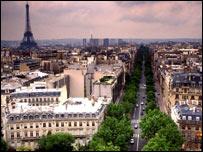 Paris skyline including the Eiffel Tower