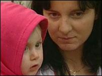 Jaroslava Trojanova and baby Nikola
