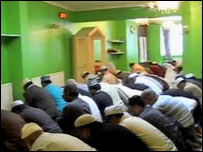 Crowded mosque