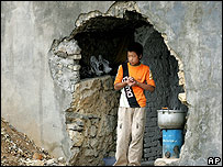 A boy forced to leave his home by China's Three Gorges Dam project