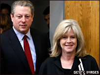 Al Gore con su esposa Tipper Gore