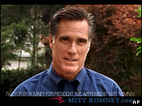 Still from an advert released by Mitt Romney's campaign
