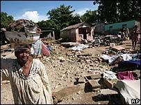 Imagen del pueblo de Cabaret luego de la inundación