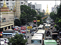Street in Rangoon