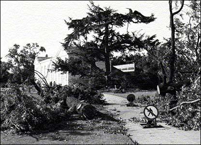 Devastation at Kew Gardens after the 1987 storm (pic: RBG Kew)