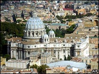 Aerial view of the Vatican (file)