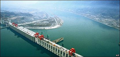Presa de las Tres Gargantas,  en China