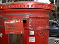 Closed post box