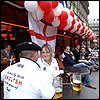 England fans are already packing out the Parisian bars