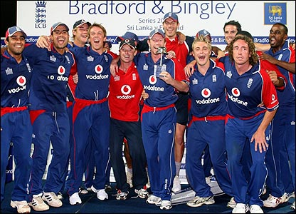 England with trophy