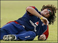Ryan Sidebottom had problems with cramp in the one-day series