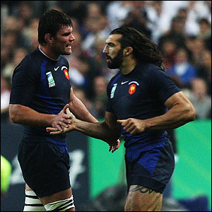 "But England have rattled France - fans of Sebastien ""The Cavemen"" Chabal get to see him much earlier than expected"