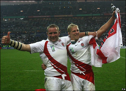 Phil Vickery and Lewis Moody