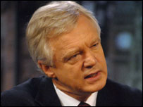 David Davis MP: photographer Jeff Overs/BBC