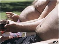 Hombres con sobrepeso