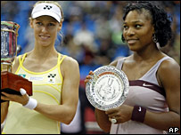 Elena Dementieva and Serena Williams