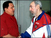 Photo released of Fidel Castro meeting Venezuelan leader Hugo Chavez 13/10/07