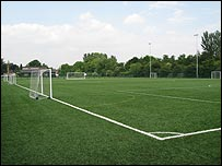 The artificial pitch at Blessed Thomas Holford Catholic College in Altrincham