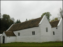 The church was moved from its original site in 1985