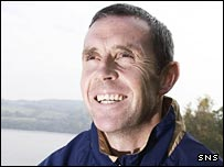 David Weir is all smiles in the Scotland camp