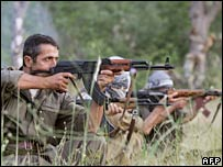 PKK fighters train in northern Iraq. Photo: June 2007