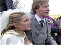Cerys Matthews at her wedding