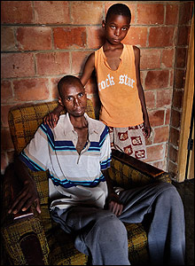 Zimbabwean sick father and daughter at home in a Bulawayo suburb
