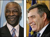 Thabo Mbeki and Gordon Brown