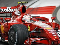 Kmi Raikkonen in his Ferrari