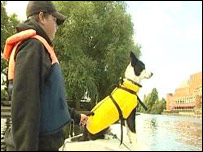 Dog used to scare away geese in Stratford-upon-Avon