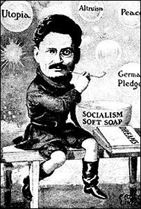 Шарж на Троцкого, опубликованный в 20-е годы в Германии (фото с сайта wikipedia.org)