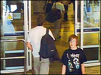 CCTV footage of Andrew Gosden at King's Cross Station